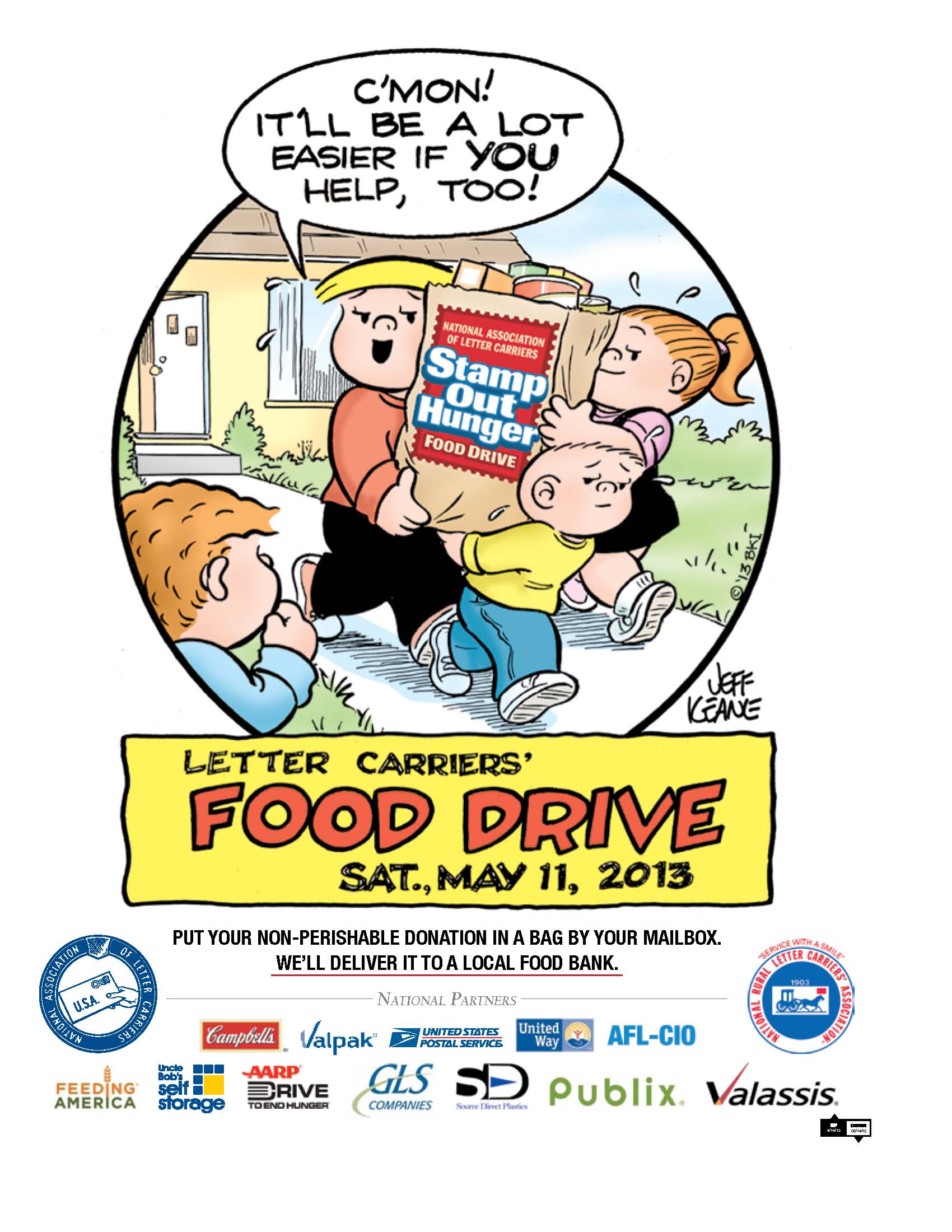 Stamp Out Hunger 2015 Promotional Materials United Way